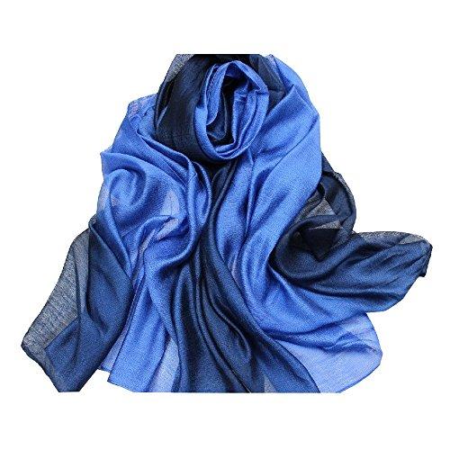 ACMEDE - Echarpe Foulard Long Doux Leger Anti uv Coloré En Soie Coton Cou Wrap Chale Pour Femme Ete Hiver - Rose - 195*68cm