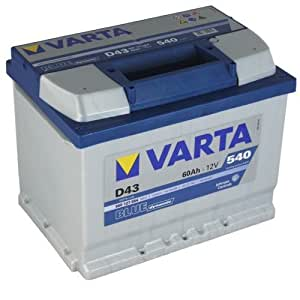 varta d43 blue dynamic autobatterie batterie 60ah. Black Bedroom Furniture Sets. Home Design Ideas
