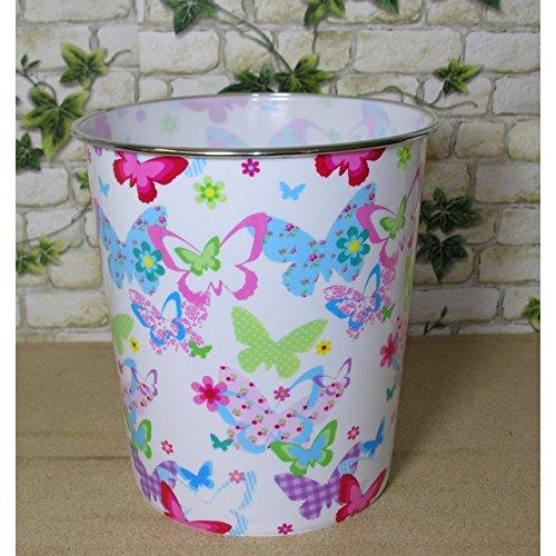 Papierkorb Schmetterling Kunststoff Papiereimer Abfalleimer Eimer Mülleimer rund