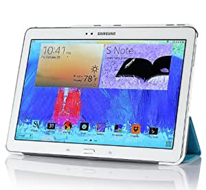 IVSO Slim Smart Cover Housse pour Samsung Galaxy Note 10.1 2014 Edition Tablette with Auto Sleep/Wake Function (Bleu)