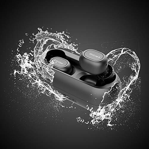 Auriculares bluetooth,  HOMSCAM Auriculares inalámbricos QCY Bluetooth 5.0 Sonido Estéreo Auricular Mini Twins In- Ear Auriculares Carga Rapida Resistente al Agua con Caja de Carga para iPhone y Android