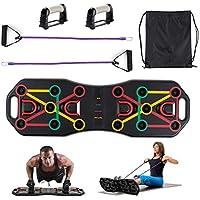 Locisne Tablero entrenamiento portátil Push Up sistema músculos abdominales con bandas resistencia para brazos,herramienta ejercicio para culturismo,equipo de entrenamiento físico