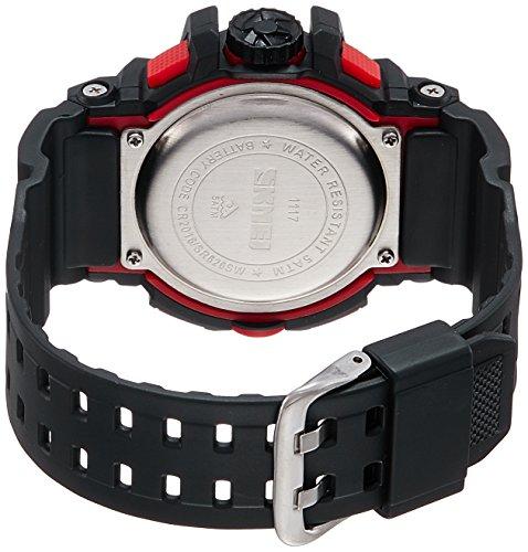 SKMEI Analog-Digital Black Dial Men's Watch-AD1117 (BLK-RED)