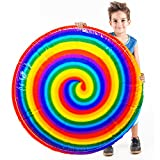 Flying Disc,Flying UFO Magic Spinning Spiral Gyroscope Toys Ball Balloons Air Hover Hyper Fly Disc Disk Frisbee Family Game for Kids Boys Girls Family Gifts