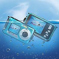 Caméscope sous-marin Caméra vidéo 24MP Appareil photo numérique étanche Enregistreur vidéo FULL HD 1080P Selfie Double écran DV Enregistrement