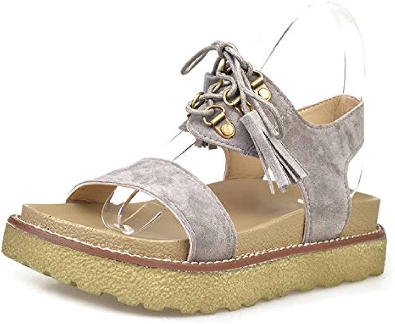 LIUYENIU Señoras sandalias planas de verano/sandalias sandalias o chanclas o sandalias/Womens Sandals,35,Beige