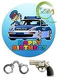 Tortenaufleger Polizei Geburtstag,Tortendeko Ca. 20Ø