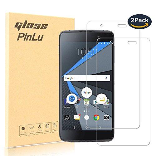 [2 Stück] pinlu® Panzerglas Bildschirmschutzfolie für BlackBerry DTEK50 Transparent Glasfolie Protector 9H Härtegrad Schutzglas,99prozent Transparenz,Einfaches Anbringen,3D Touch Kompatibel