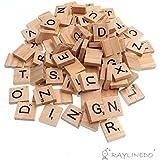 Raylinedo® 200 X letras de madera para Scrabble Scrabbles número Crafts Inglés ...
