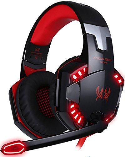 Cuffie PC Gaming Microfono ArkarTech Cuffia da Gioco Gamer Stereo LED Luce  Regolatore di Volume per b1fc3f90da0b