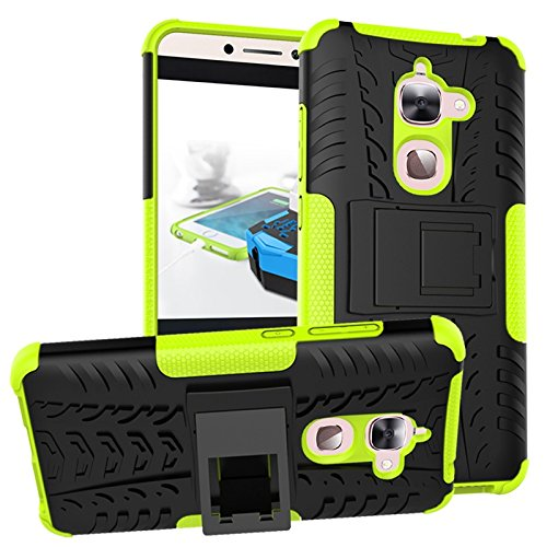 YHUISEN Hyun Pattern Dual Layer Hybrid Rüstung Kickstand 2 in 1 Shockproof Case Cover für LeTV LeEco Le 2 X620 / Le 2 Pro (5,5 Zoll) ( Color : White ) Green