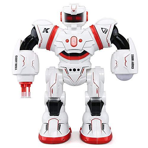 enung Kombandrott, Intelligente Programmiergestelle Sensing Robotics, mit Rollenspiel Combord/Gesang und Tanz und LED Eyes Roboter Kit Toys Gift für Kids,Red ()
