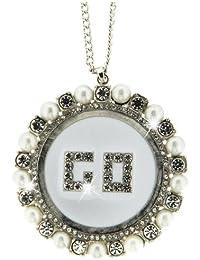 Sweet Deluxe Damen Halskette Metall rhodiniert Glas 50 cm rhod./weiß 3141
