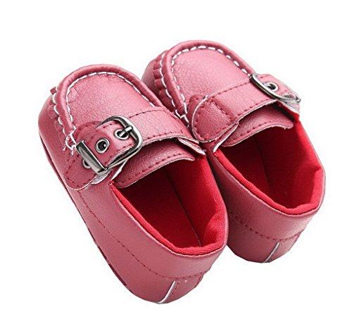 ACMEDE Baby Mädchen Taufschuhe Lauflernschuhe weiche Sohle Schuhe Sneaker Bordeaux