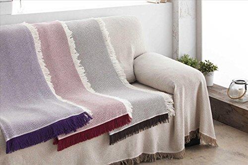 Mila Rosa ForenTex - Colcha Foulard Multiusos (Vilma) para Cama y sofá  (Burdeos 56c98aabd21