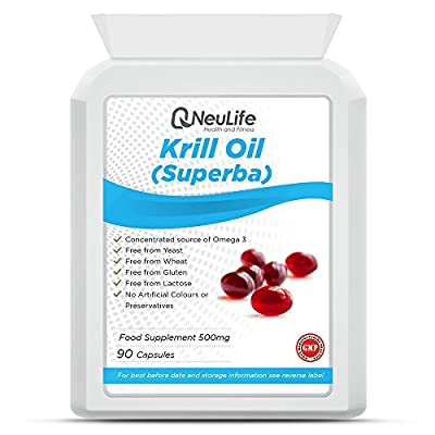 Antarctic Krill Oil (Superba) 500mg - 90 Capsules - by Neulife Health and Fitness by Neulife Health and Fitness
