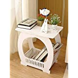 SS Arts Wood-Plastic Table with Storage(White)
