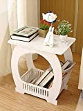 #8: SS Arts Wood-Plastic Table with Storage(White)