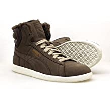 Puma - Zapatillas de Cuero para Mujer Marrón Negro