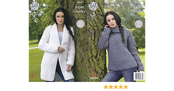 0bc214841 King Cole Ladies Jacket   Sweater Big Value Knitting Pattern 4363 Super  Chunky  Amazon.co.uk  Kitchen   Home