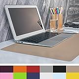 casa pura Sottomano per scrivania Portatile, Mouse e tastiera | Gaming | Protezione tavolo | 50x65cm cm | 12 colori, beige