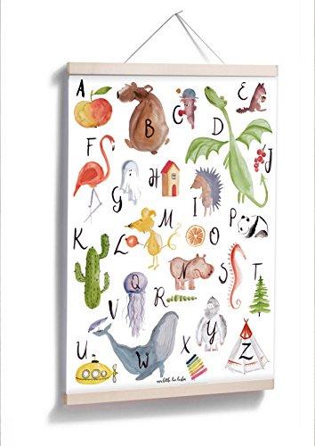 ABC Poster - Großer, bunter Lernspaß in A2
