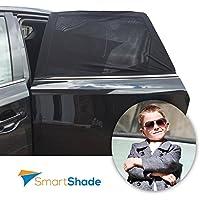 Tendina Parasole per Finestrino Posteriori Auto + Proteggi Sedile Universale - per Neonati, Bambini e Animali. Massima Protezione da Raggi UV, Calore e Riflesso del Sole - 2 Tonalità - Auto Per Bambini View Mirror
