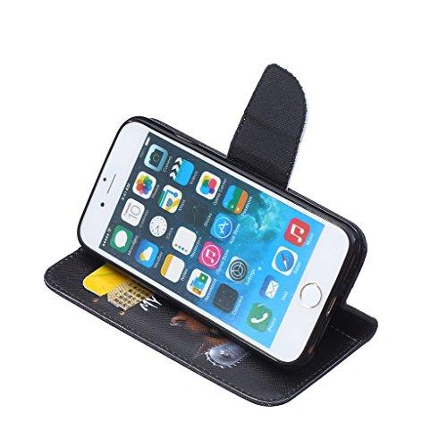 Trumpshop Smartphone Case Coque Housse Etui de Protection pour Apple iPhone 6 / iPhone 6s (4.7-Pouce) + Don't Touch My Phone (Ourson) + Mode Portefeuille PU Cuir Avec Fonction Support Don't Touch My Phone (Ourson)