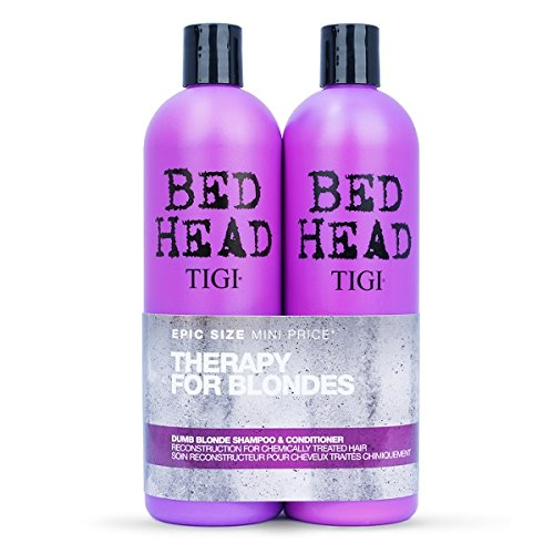 Colour Combat - The Dumb Blonde System by TIGI Bed Head Hair Care Tween Set - Shampoo 750ml and Conditioner 750ml 750ml (packaging may vary)