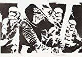 STAR WARS Das Erwachen Der Macht Poster Plakat Handmade Graffiti Street Art - Artwork