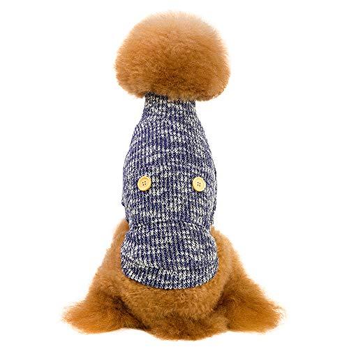 OHQ Rollkragenpullover Strickpullover für Haustiere, Halloween Rollkragen Skelett für Haustiere für Kleine Hunde Rollkragen Kleidung für Hunde