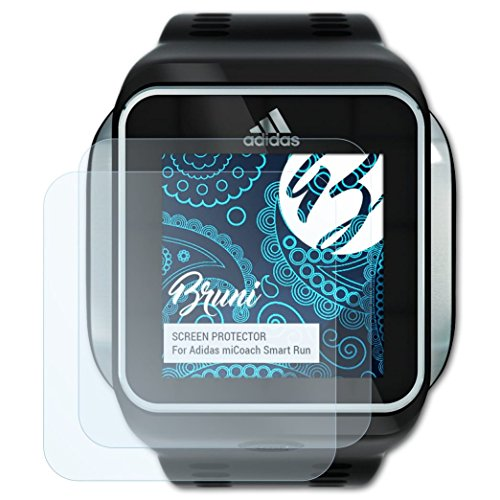 low priced 0ead4 81e4b Bruni Screen Protector for Adidas miCoach Smart Run Protector Film, crystal  clear Protective Film (