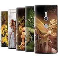 Offiziell Elena Dudina Hülle / Case für Sony Xperia XZ2 / Pack 10pcs Muster / Elegante Feen Kollektion