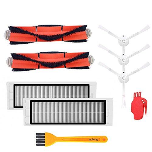 Zubehör-Kit für XIAOMI MI Roboter-Vakuum-ErsatzteileZubehör-Kit für XIAOMI MI Roboter-Vakuum-Ersatzteile 3 Stück Seitenbürste 3 Stück HEPA-Filter 2 Stück Hauptbürste 1Pcs Reinigungswerkzeug (Stil 2)