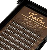 Fabu Eyelash Extensions Russian Volume 3D Fans, C curl, Thickness/Diameter 0.10, MIX (12mm-15mm) INCLUDES LENGTHS 12mm, 13mm, 14mm, 15mm