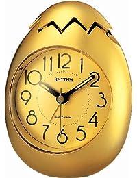 Rhythm Gold oval Value added Beep Alarm clocks 11x9x9Cm