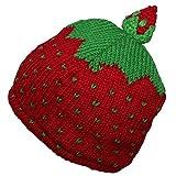 Freak Scene® Erdbeerwollmütze für Kinder ° warme Strickmütze ° Größe: 46 cm