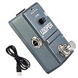 Fafeims Pédale de Guitare Metal Shell Analogique Mini Loop Durable et Exquis Station Pédale d'effet Guitare avec Accessoire d'instrument True Bypass