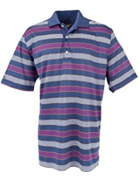 Greg Norman Collection Men's Old Harbour Stripe Polo