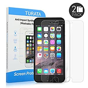 iPhone 6s/iPhone 6 Screen Protector - TURATA Premium Crystal Clear 2-Pack [Unique Material] [Ultra Thin] Perfect Fit for iPhone 6/6s Maximum Screen Protection from Bumps, Drops, Scrapes