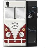 Coque Gel TPU de STUFF4 / Coque pour Sony Xperia L1 / Titan Rouge Design / Rétro T1 Bus Campeur Collection