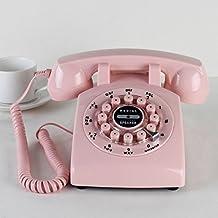 Antike Telefon Kontinentaleuropa Und Idyllischen Landschaften Alte Antike  Wohnzimmer Schlafzimmer Haus Telefone Rosa Taste Drücken