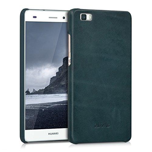 kalibri-Echtleder-Backcover-Hlle-fr-Huawei-P8-Lite-Leder-Case-Cover-Schutzhlle-in-Dunkelblau