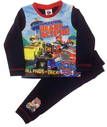 Kinder Paw Patrol Jungen Pyjamas Nachtwäsche Alter 18-24 Monate bis 5 Jahre (3-4 Jahre) (Pyjama-3 Monate)