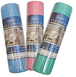 GINNI Kitchen Swipe Rolls (Multi-Purpose House Holding sheets)- Pack 0f 3 (50 Dry sheets Per Pack)