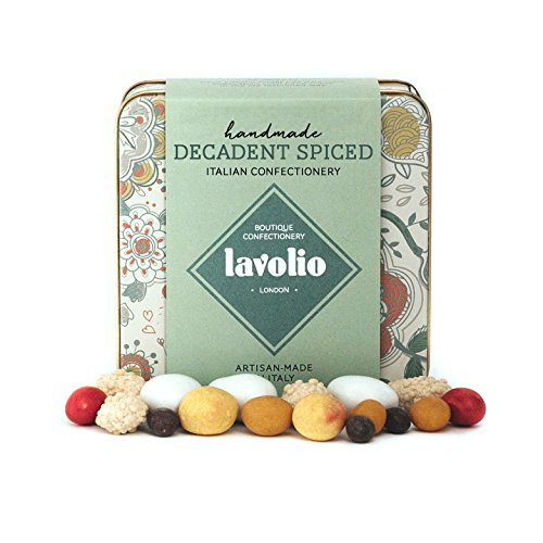 Lavolio Decadent Spiced Confectionery - Gift Tin - 175g - Delicious surprises! Real pieces of fruit, nuts and jellies wrapped in chocolate and spices.