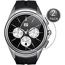 E-Hamii [2-Pack] LG G Watch Urbane 2nd W200 Protector de Pantalla, 0.26mm HD Anti-Scratch y Anti-huella digital Proteger la película, 9H Vidrio templado Cubierta protectora, Mejor protección (Nota: No cobertura completa)