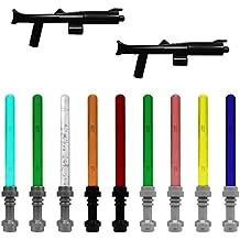 Galaxy Arms 20piezas Armas: Set 13003con diferentes blásteres y multicolores schwertern. adecuado para tus Lego Mini Figuras de Ejército.
