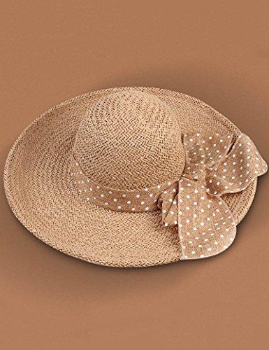 Chapeau de soleil Femelle Grandes corniches chapeau de paille Pliable été chapeau de soleil Crème solaire Anti-UV chapeau de soleil Plage Cap ( Couleur : 3 ) 6