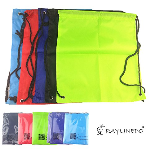 RayLineDo5PCS-Outdoor-Sport-Gymsac-Drawstring-Gym-Shoulder-Bags-Rucksack-Backpack-School-Book-Bags-For-Swimming-Travel-and-Sport-Random-Color
